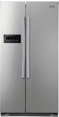 Холодильник с морозильником LG GC-B207GLQV - вид спереди