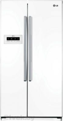 Холодильник с морозильником LG GC-B207GVQV - вид спереди