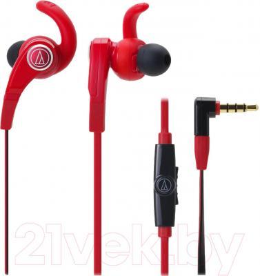 Наушники-гарнитура Audio-Technica ATH-CKX7iS (красный) - общий вид