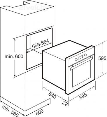 Электрический духовой шкаф Teka HE 724 - схема