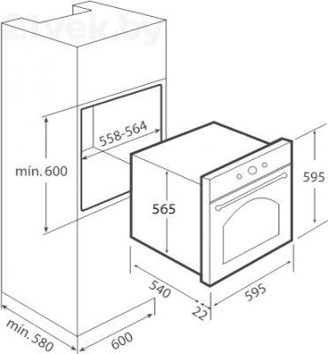 Электрический духовой шкаф Teka HR 650 (бело-кремовый) - схема