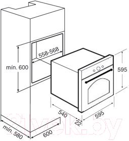Электрический духовой шкаф Teka HR 550 (бежевый)
