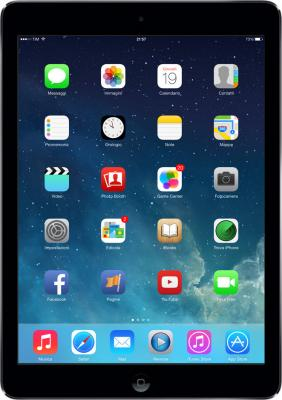Планшет Apple iPad Air 16GB 4G Space Gray (MD791TU/A) - фронтальный вид
