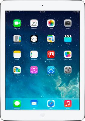 Планшет Apple iPad Air 32GB 4G Silver  (MD795TU/A) - фронтальный вид