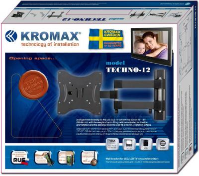 Кронштейн для телевизора Kromax Techno-12 (темно-серый) - упаковка