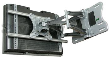 Кронштейн для телевизора Kromax Atlantis-100 (серебристый) - вполоборота