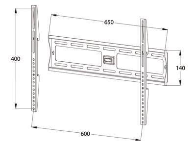 Кронштейн для телевизора Tuarex OLIMP-7003 (Dark Gray) - габаритные размеры