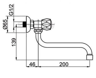 Кран для воды Rubineta Rubin R-9 Trio - схема