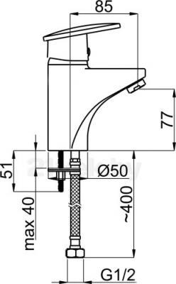 Смеситель Rubineta Style-18 - схема