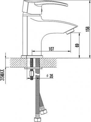 Смеситель Rubineta Forte-18 - схема