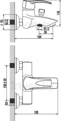 Смеситель Rubineta Naro-10 (Neptun-10) - схема