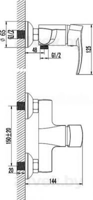 Смеситель Rubineta Naro-12 (Neptun-12) - схема