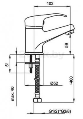 Смеситель Rubineta Prince P-18 Br Mars - схема