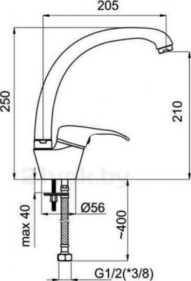Смеситель Rubineta Turbo T-33 Sher - схема