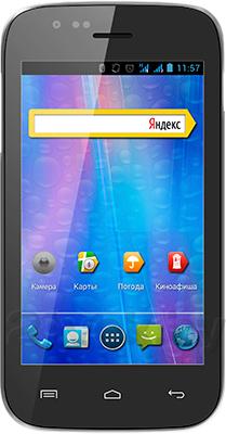 Смартфон Explay A400 (Black) - общий вид