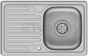 Мойка кухонная Asil AS28 (0.5mm, left) - общий вид