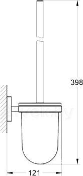 Ершик для унитаза GROHE Essentials 40374000 - габаритные размеры