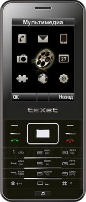 Мобильный телефон TeXet TM-222D (Black) - общий вид
