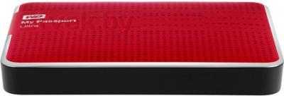 Внешний жесткий диск Western Digital My Passport Ultra 2TB Red (WDBBUZ0020BRD) - вид сбоку