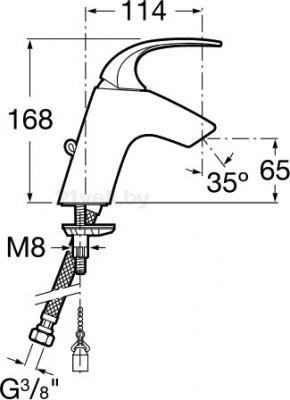 Смеситель Roca M2-N 5A3168C00 - схема
