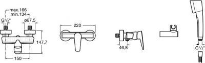 Смеситель Roca Esmai 5A2031C00 - схема