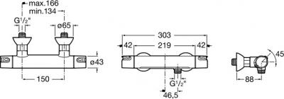 Смеситель Roca Victoria 5A1318C00 - схема