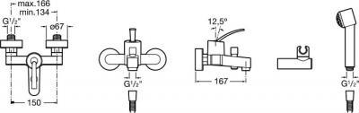 Смеситель Roca Moai 5A0146C00 - схема