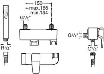Смеситель Roca Thesis 5A2050C00 - схема
