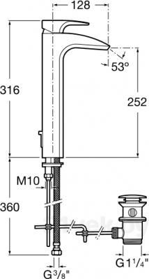 Смеситель Roca Thesis 5A3450C00 - схема