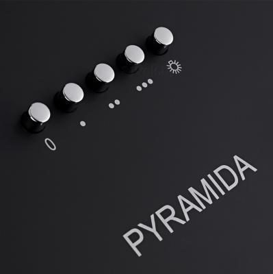 Вытяжка купольная Pyramida N 60 (Black) - панель управления