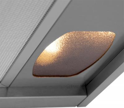 Вытяжка купольная Pyramida BR 60/A (нержавеющая сталь) - освещение