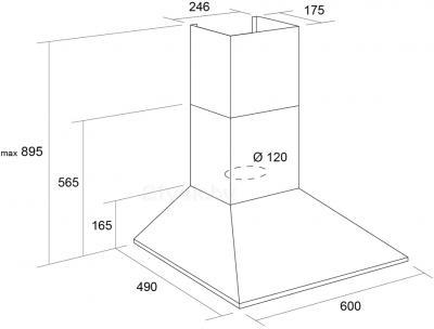 Вытяжка купольная Pyramida KS 60 (Inox) - схема