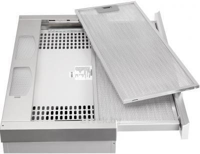 Вытяжка телескопическая Pyramida TL Glass 60 (Inox-White) - со снятым фильтром
