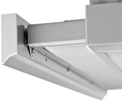 Вытяжка телескопическая Pyramida TL Glass 60 (Inox-White) - выдвижная планка