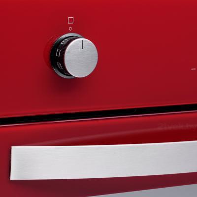 Электрический духовой шкаф Pyramida F 84 EIX-P (красный) - элементы управления