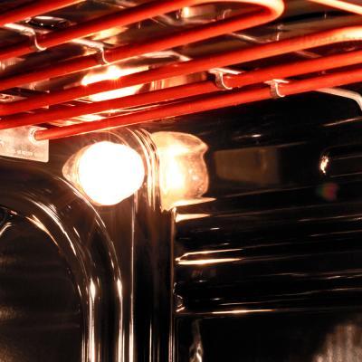 Электрический духовой шкаф Pyramida F 60 TMR (белый) - освещение