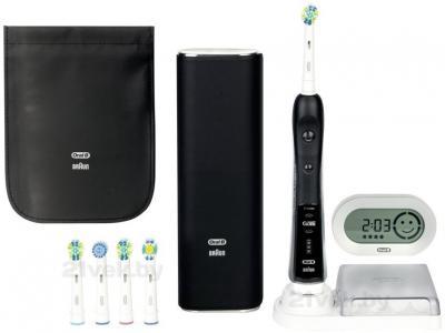 Электрическая зубная щетка Braun Oral-B Black 7000 D34.555.6X (81436027) - весь комплект