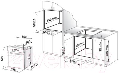 Электрический духовой шкаф Gefest ДА 622-02 Б