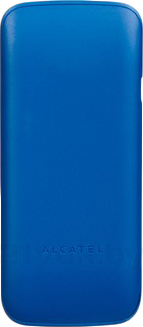 Мобильный телефон Alcatel One Touch 1010D (синий) - задняя панель