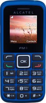 Мобильный телефон Alcatel One Touch 1010D (синий) - общий вид