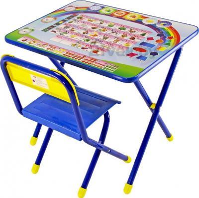 Стол+стул Дэми №1 Азбука (синий) - общий вид