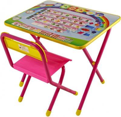 Стол+стул Дэми №1 Азбука (розовый) - общий вид