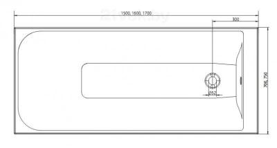 Ванна акриловая Colombo Фортуна SWP1675000 (170х75) - габаритные размеры