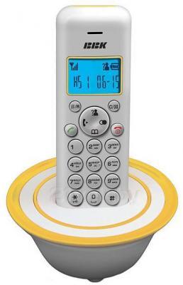 Беспроводной телефон BBK BKD-815 RU (White-Yellow) - общий вид
