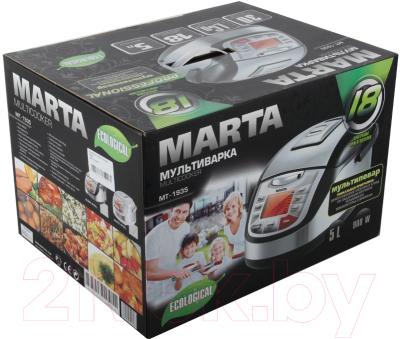 Мультиварка Marta MT-1935 (белый/сталь) - коробка