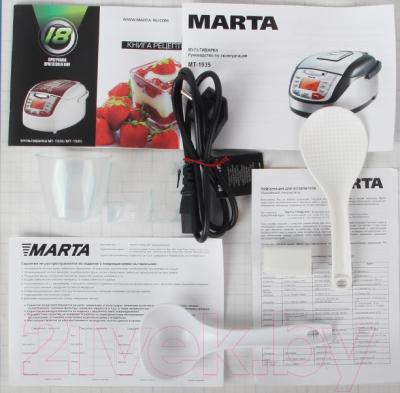 Мультиварка Marta MT-1935 (белый/сталь) - комплектация