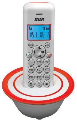 Беспроводной телефон BBK BKD-815 RU (White-Red) - общий вид