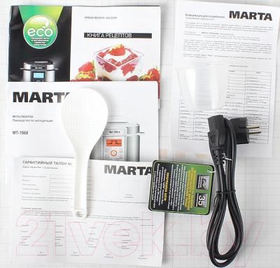 Мультиварка-скороварка Marta MT-1968 (белый/сталь) - комплектация