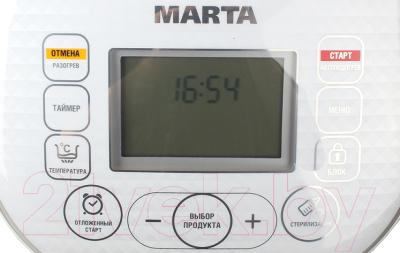 Мультиварка Marta MT-1979 (белый/серебристый) - панель