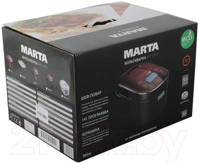 Мультиварка Marta MT-1979 (белый/серебристый) - коробка